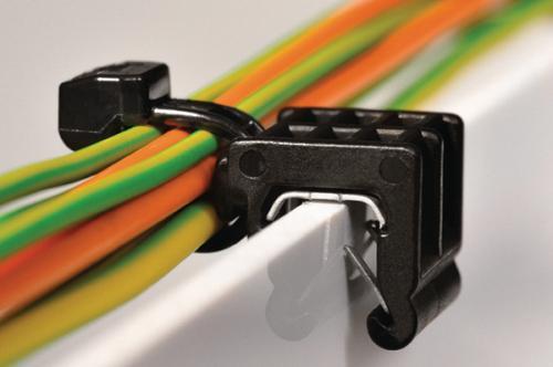 Hellermann Tyton - 2-parts fixeringsband (strips) med kantclips 1-3 mm