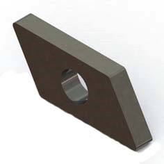 SoliTek - Infästningsplatta 28x15 mm - gängad M8 till GlasGlas panelklämma