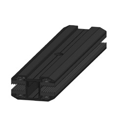 SoliTek - Mellanklämma för GlasGlas solpaneler - Svart - 150 mm