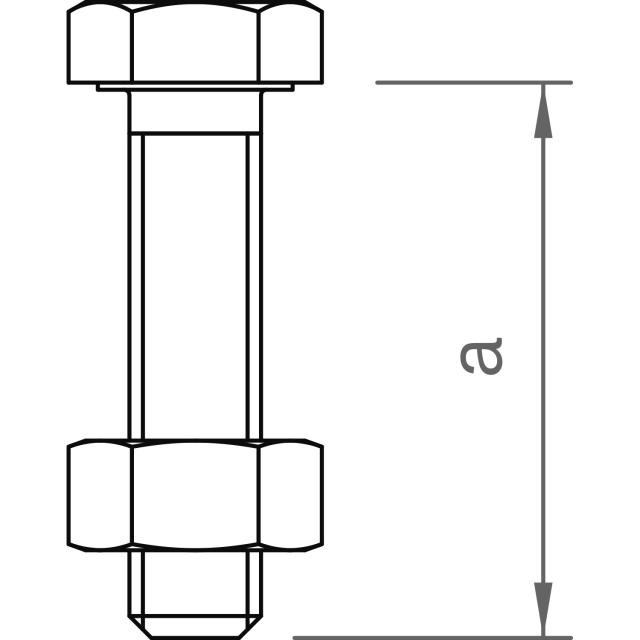 Novotegra - Glidstoppskruv för panel. Set - 2 x M8 25mm med mutter AF13