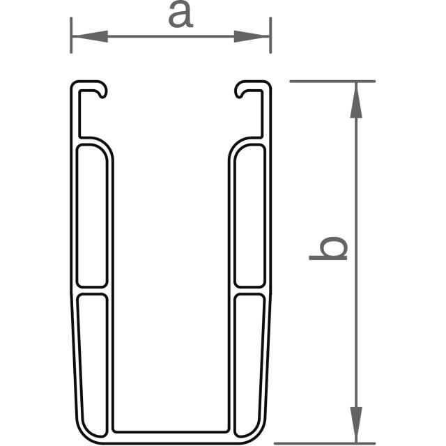 Novotegra - C-skena - C95 - 6,12 m x 95 mm