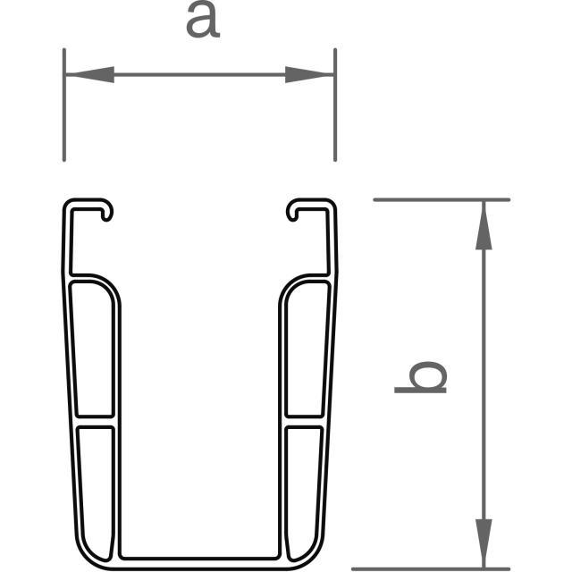Novotegra - C-skena - C71 - 6,12 m x 71 mm