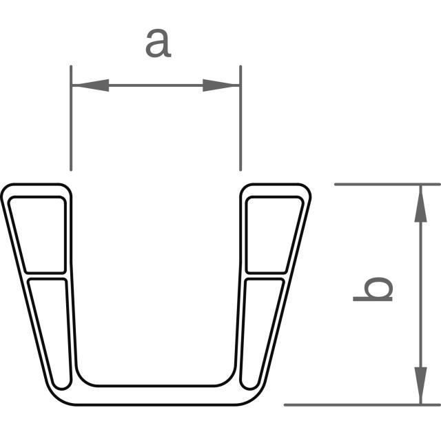Novotegra - Expanderande skarv C95 - Set med 4 x skruv, 4 x AF18 låsmutter och bricka