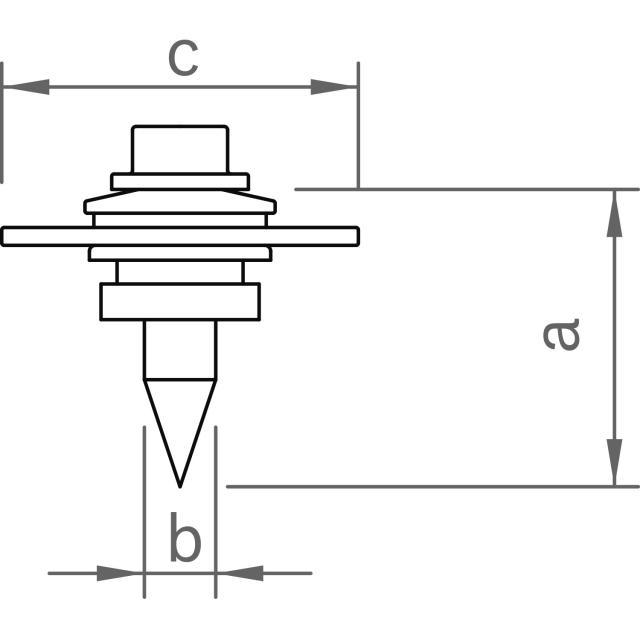 Novotegra - Skruv för direktmontage av C-skena - Set