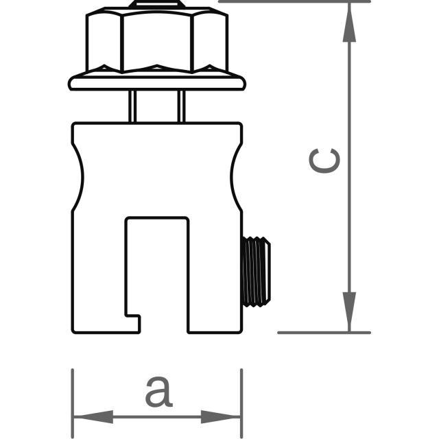 Novotegra - Fäste för ståndfalsat plåttak - Set - M8