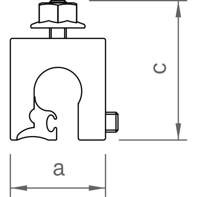 Novotegra - Fäste för rundfalsat plåttak - Set - M8