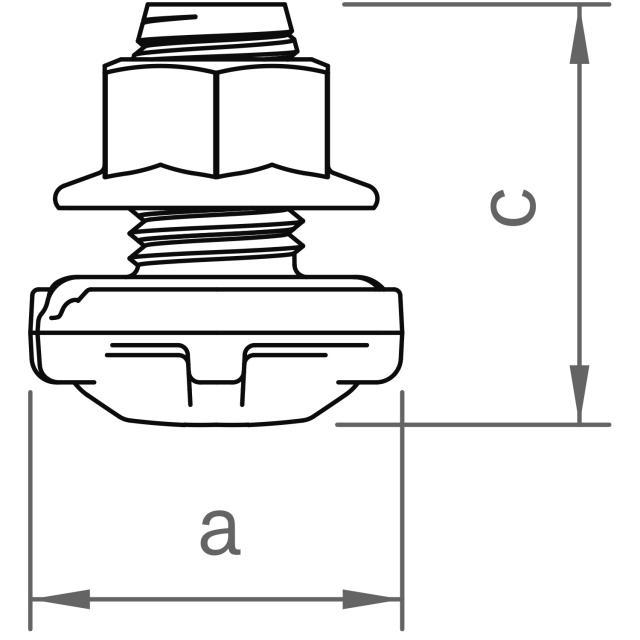 Novotegra - Beslag C M14 - för korsande C-skenor