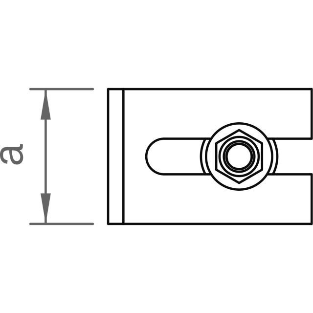 Novotegra - Ändskydd/Glidstopp C47. Svart. Set med skruv M12 25mm och låsmutter AF18