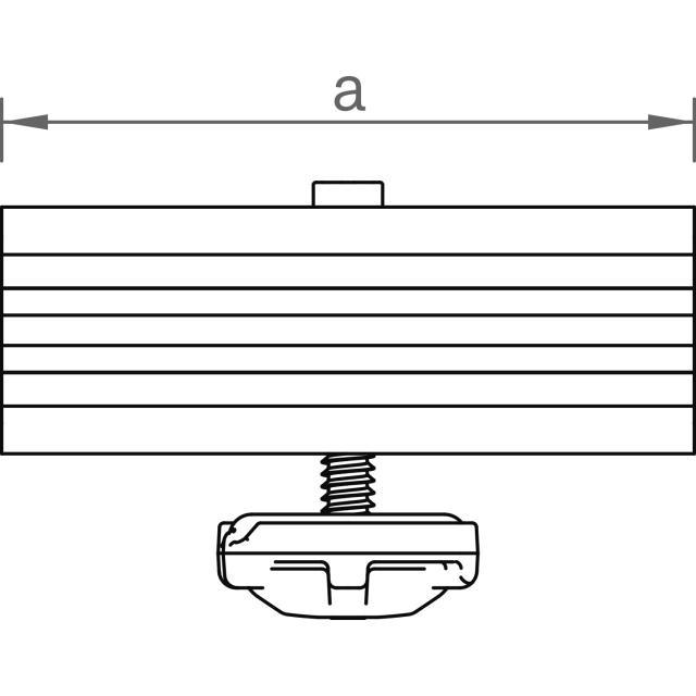 Novotegra - Mittklämma GlasGlas ramlös 6,8-8,0 mm för C-skena