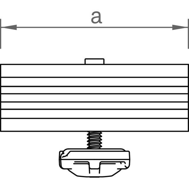 Novotegra - Ändklämma GlasGlas ramlös 6,8-8,0 mm för C-skena