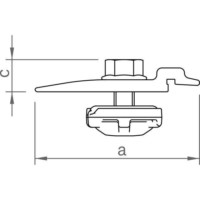 Novotegra - Beslag C IR M8 - Set - Angör iläggsskena IR mot C-skena