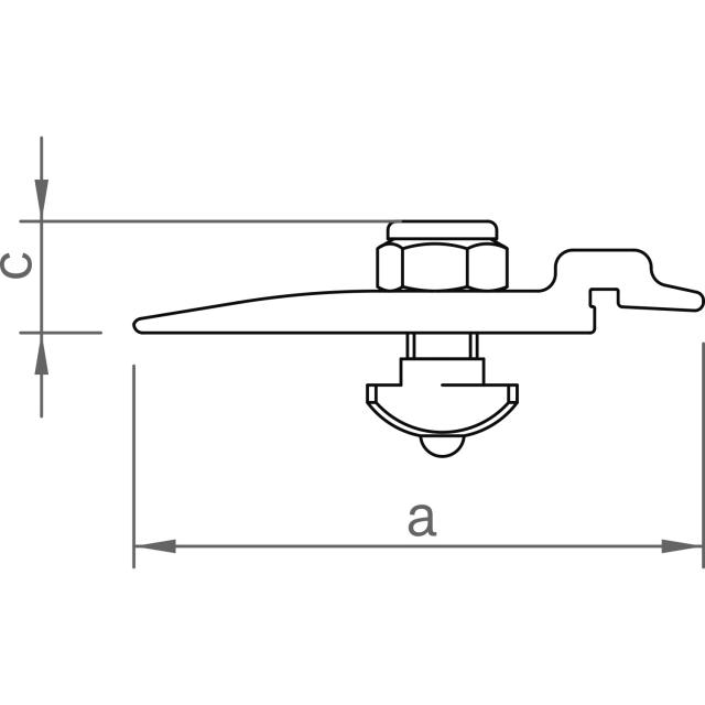 Novotegra - Beslag N IR M8 - Set - Angör iläggsskena IR mot N-skena och fasadfäste