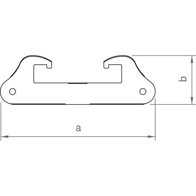 Novotegra - Fästbeslag för oramade paneler på TRP45-tak.  Set - komplett med skruv