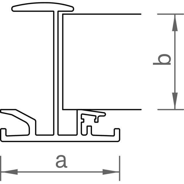Novotegra - Iläggsskena - IR35 - Ofärgad 6,0 m x 35 mm