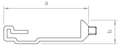 Novotegra - Skarvbeslag IR - Svart. Komplett med 2 x skruv T15