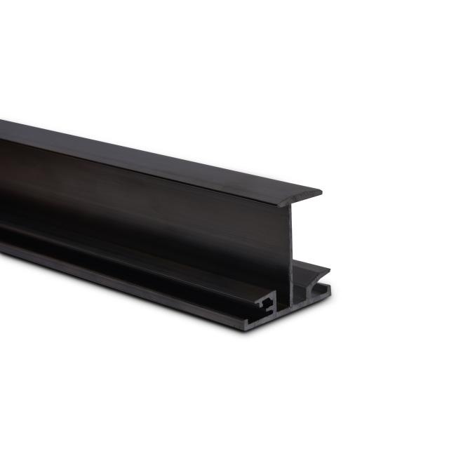 Novotegra - Iläggsskena - IR40 - Svart 6,0 m x 40 mm