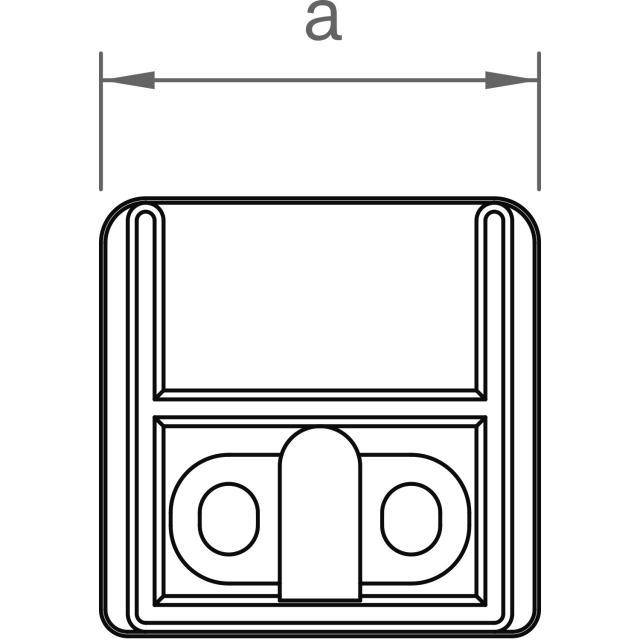 Novotegra - Ändstopp IR - Svart. Komplett med skruv T30