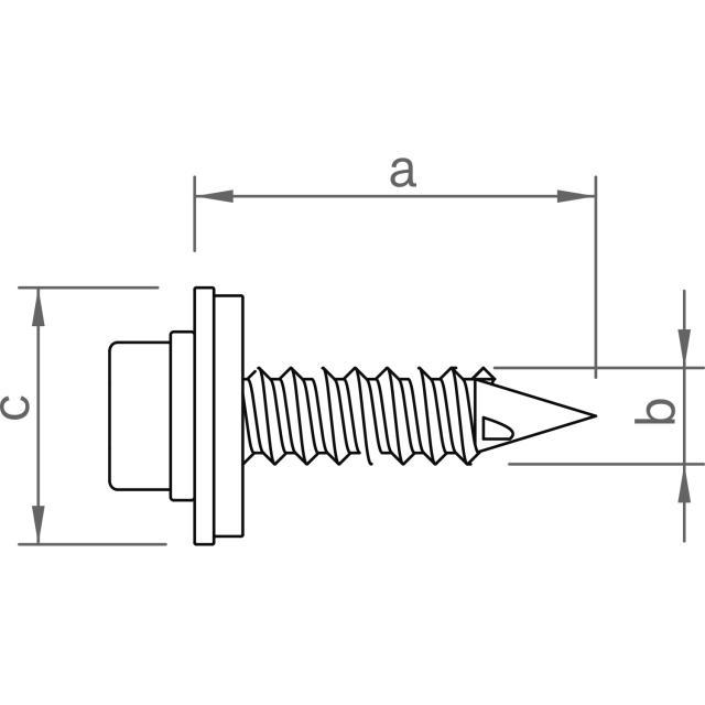 Novotegra - Skruv för direktmontage av korta C-skenor 6,0x25 mm E16