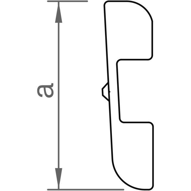 Novotegra - Insticksskarv C47 S - Set 2 x skena och 4 x AF8 skruv