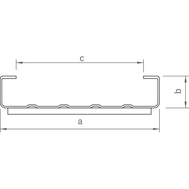 Novotegra - Bastråg FR II med PE-skydd. 150 x 30 mm. 6,0 m
