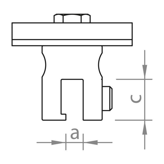 Novotegra - Fäste för iläggsskena ståndfalsat plåttak - Set - 150 M8 IR