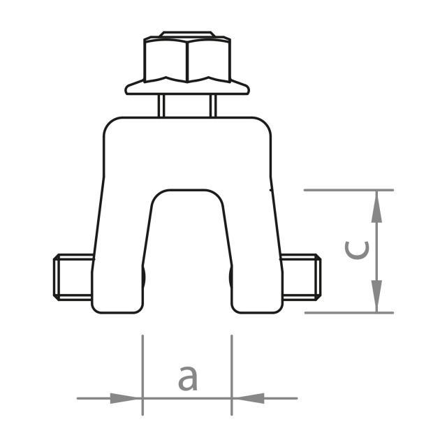 Novotegra - Fäste för falsat profilerat plåttak - Set - M8