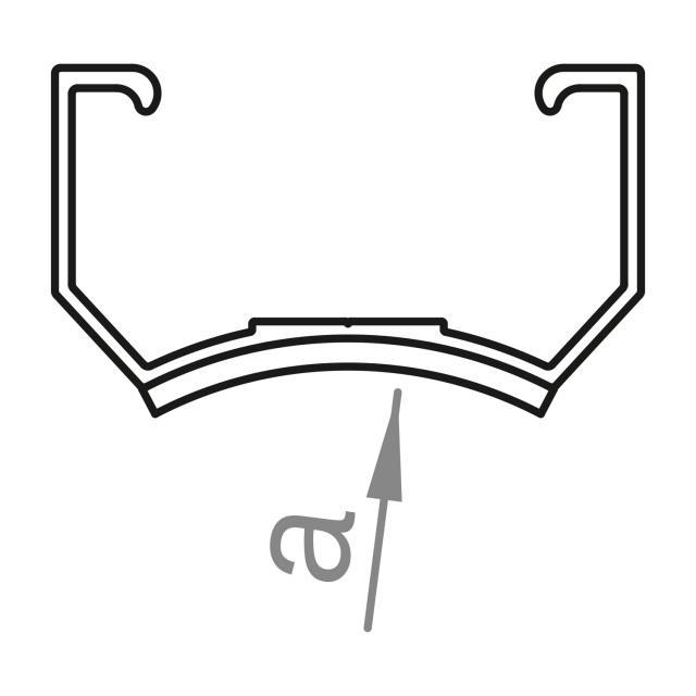 Novotegra - Kort C-skena - C33. R39,4 med EPDM - 125 mm