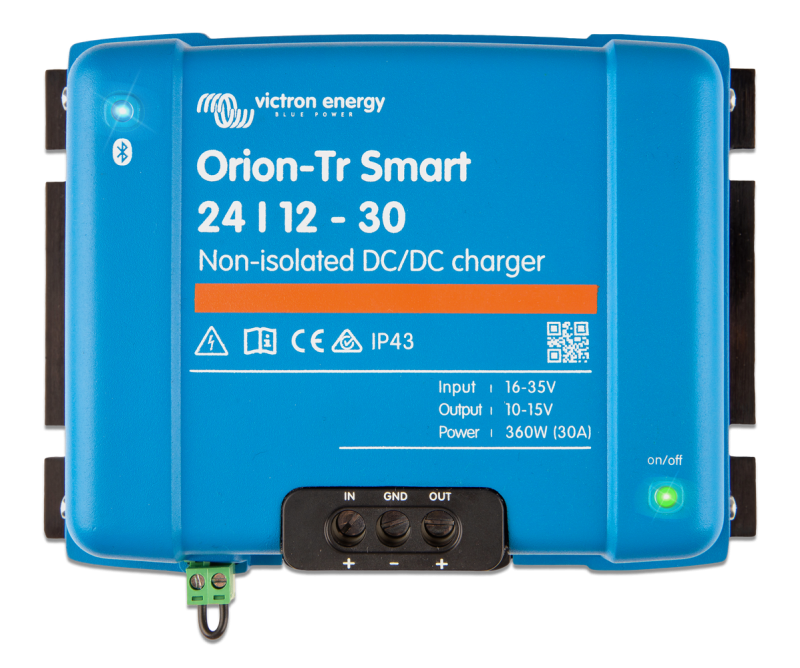 Victron - Orion-Tr Smart 12/12-30A (360W) Non-isolated DC-DC charger