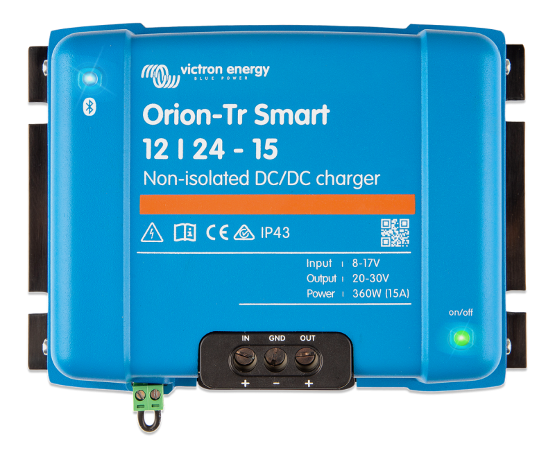 Victron - Orion-Tr Smart 12/24-15A (360W) Non-isolated DC-DC charger