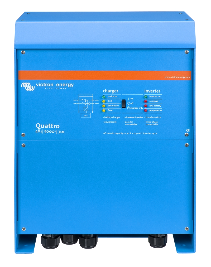 Växelriktare/Laddare - Victron - Quattro 48/5000/70-100/100
