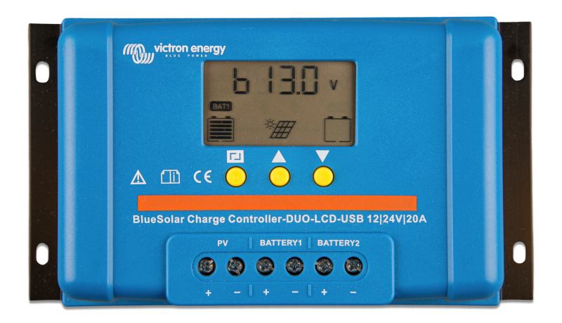 Victron - BlueSolar PWM DUO-LCD&USB 12/24V-20A