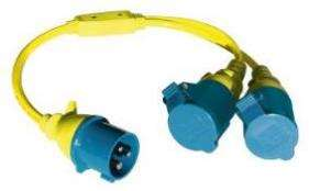 Victron - Splitter Cord 16A/250V-CEE plug/2xCEE Coupling