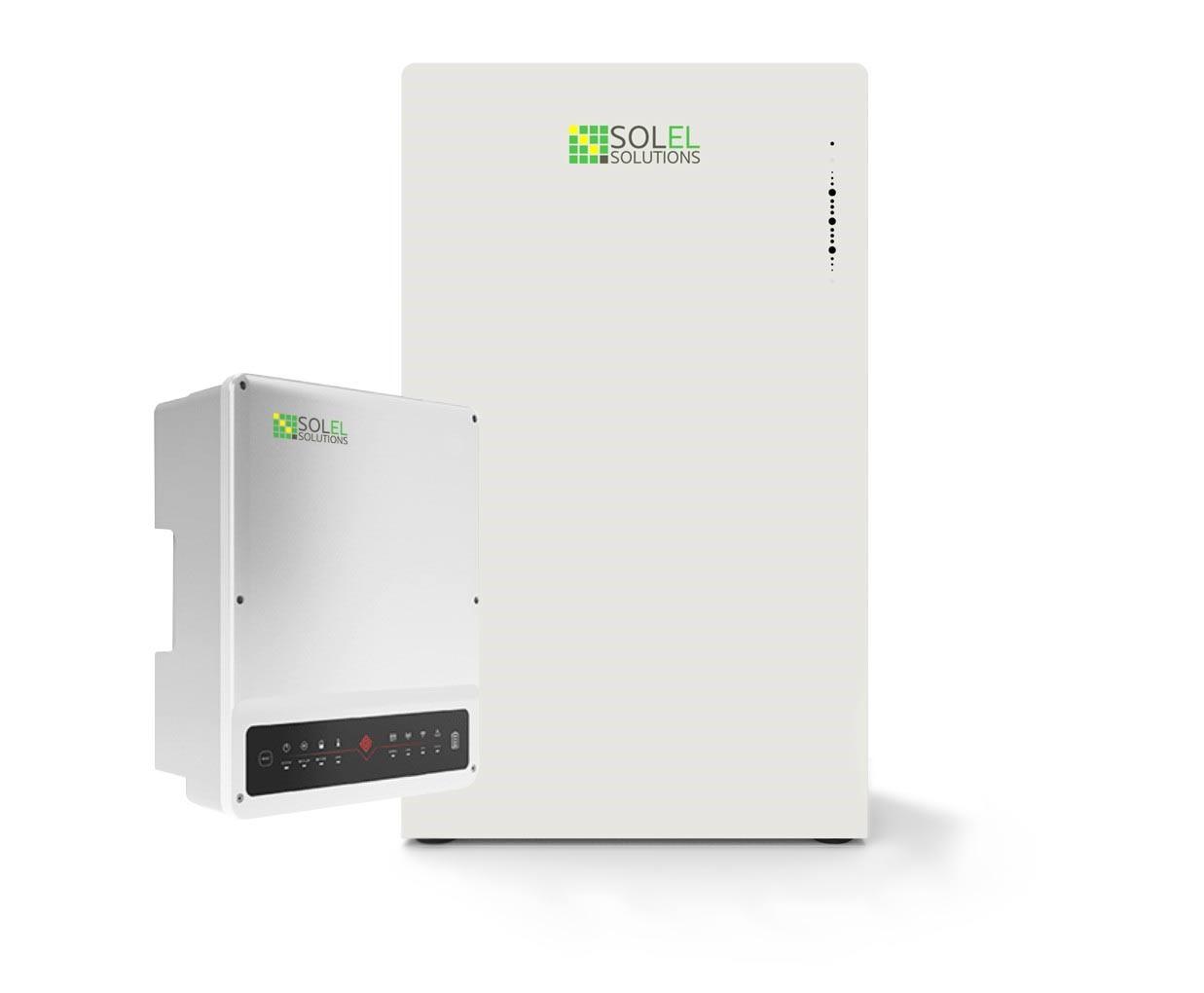 Solel Solutions - Energilagringspaket - 10 kW hybridväxelriktare och 7.5 kWh energilager