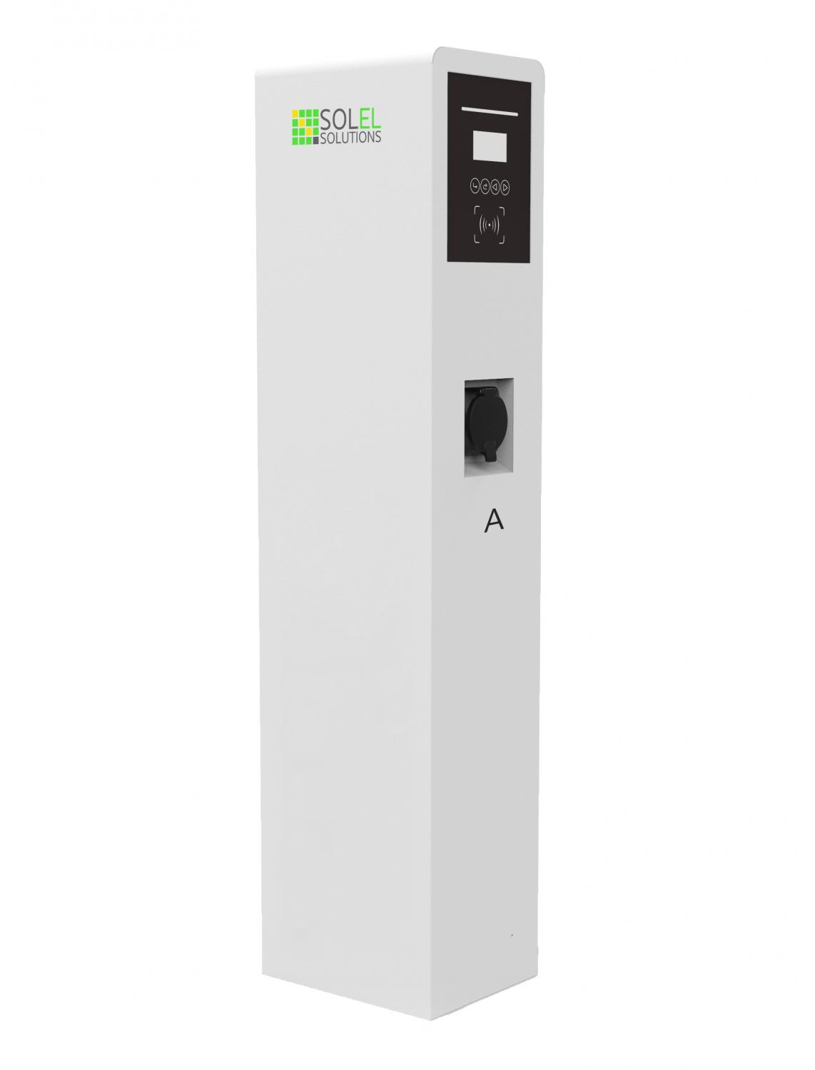 Solel Solutions - Business Series - 2 x 22kW, 3-fas AC Laddbox