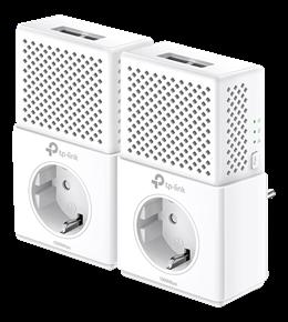 TP-LINK - 2 ST Homeplugg, AV1000 Gigabit Powerline Starter Kit