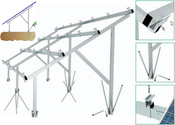 TreeSystem - 2x18 stående 72/144-cells panel 30 mm - Paket