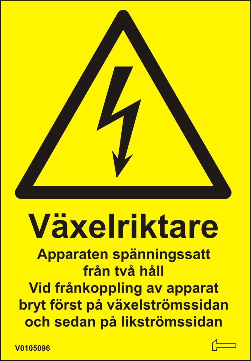 Dekal - Växelriktare Apparaten spänningssatt från...
