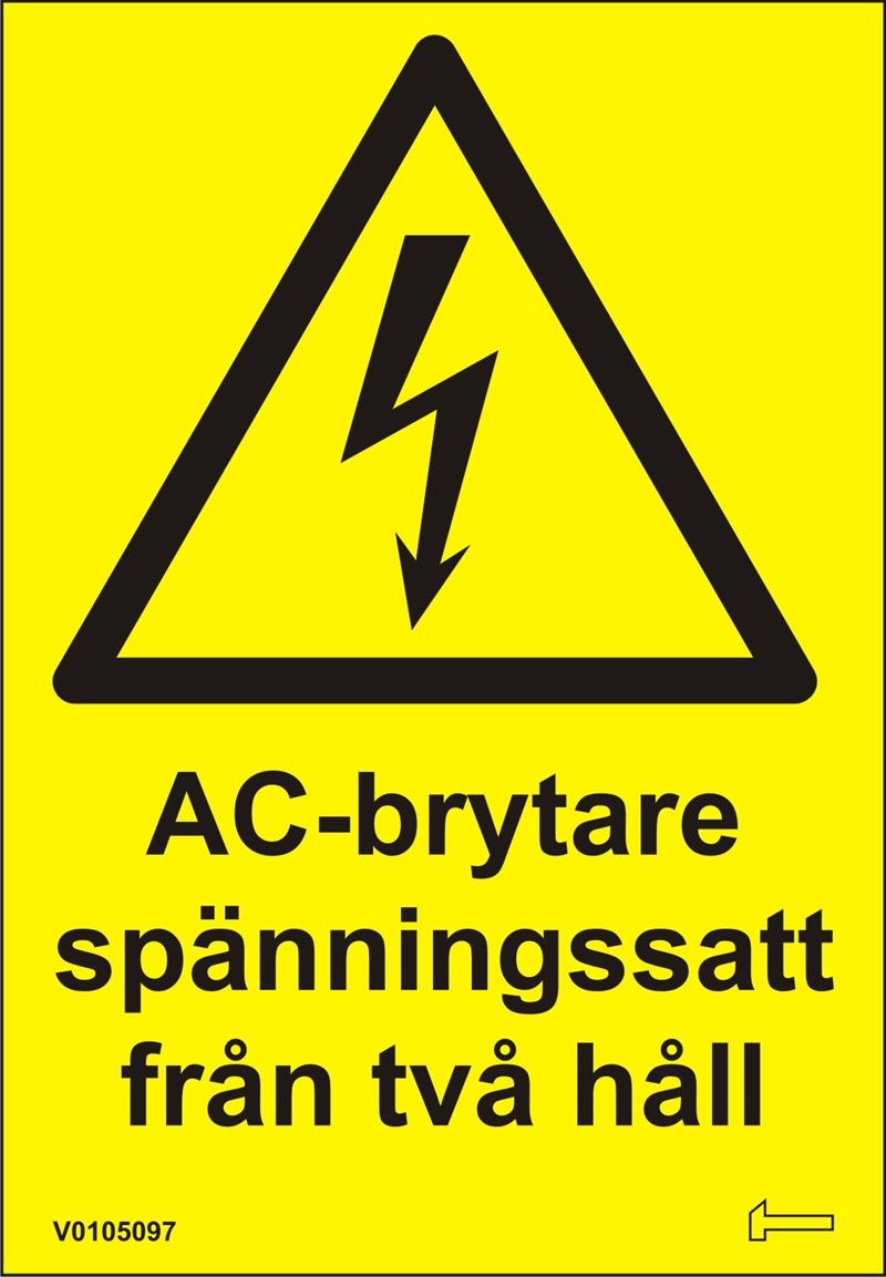 Dekal - AC-Brytare spänningssatt från två håll