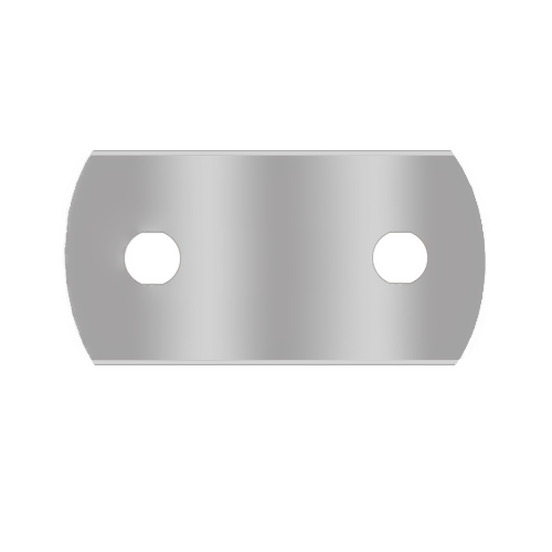 1-013-2H Round 2-hole blade SS 250pcs 43x22x0.13mm