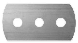 three hole razor blade with rounded corners