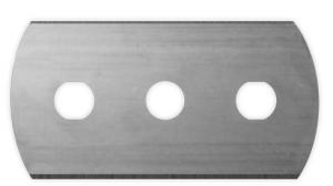 grey three holes round corner razor blade