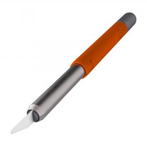 pen knife cutter in grey and orange