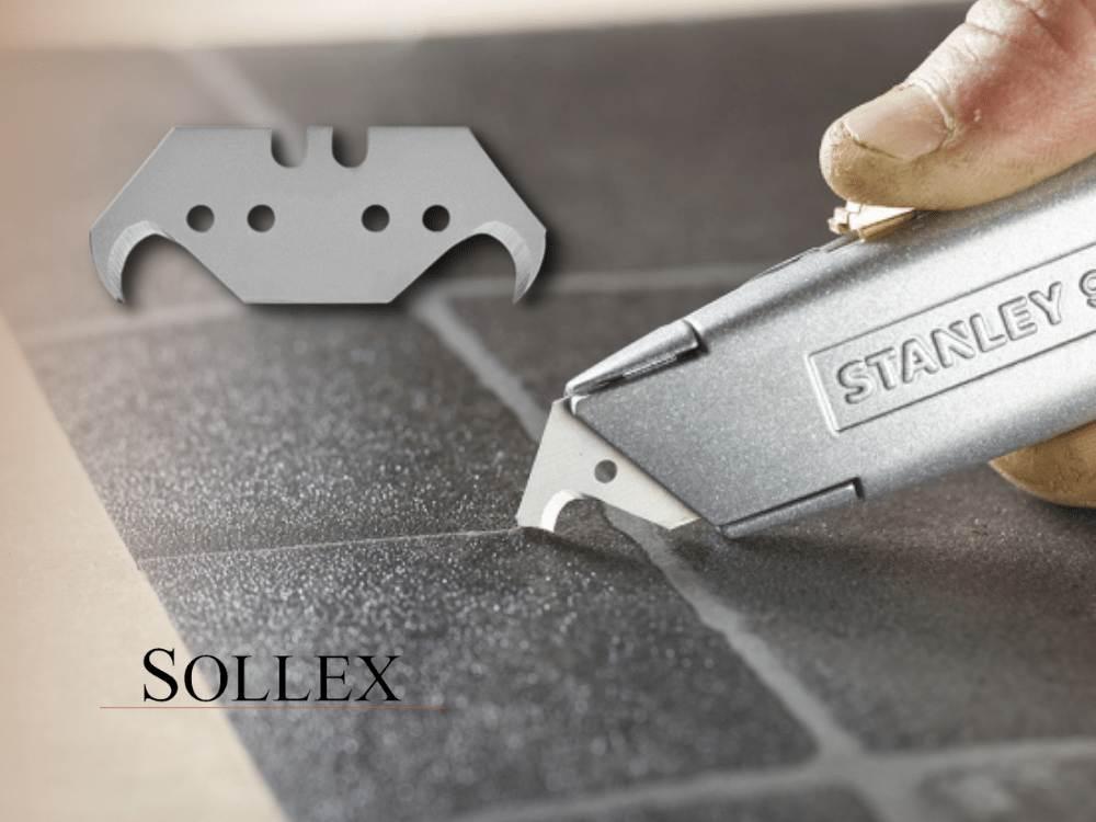 Högkvalitativa KROKBLAD som passar alla Stanley knivar - Sollex 10STANLEY Krokblad är optimala för kniv för golv- och takläggare