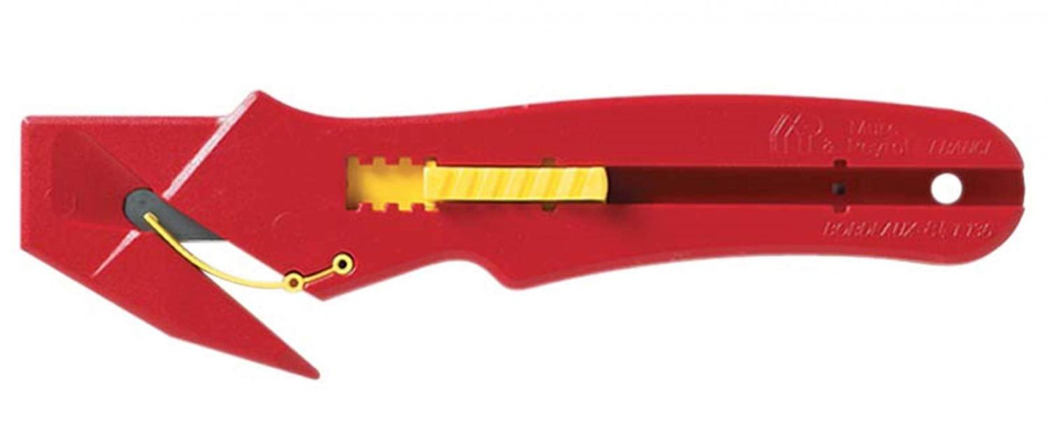 lightweight red safety knife for cutting plastic film