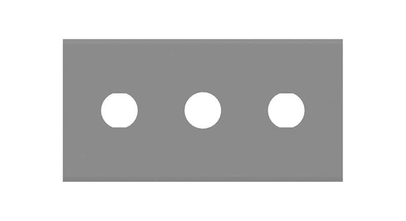 kerambelagd tre hålig rakt rakblad för industri för plast filmskärning