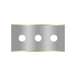 Straight 3-hole industrial razor blades 2-015-T