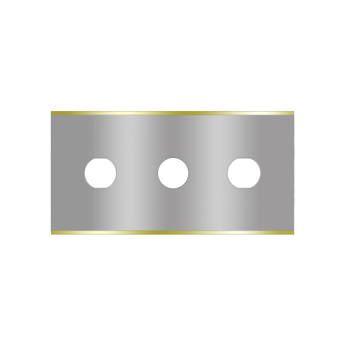 Straight 3-hole industrial razor blades 2-020-T