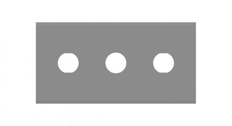Trehåls rakknivblad från Sollex Högsta kvalitet