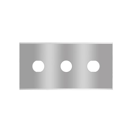Straight 3-hole industrial razor blades 2-030-r