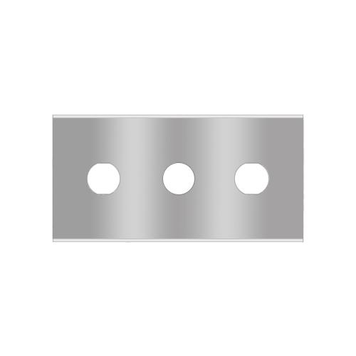 Straight 3-hole industrial razor blades 2-030